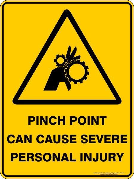 Sticker Caution Pinch Point Pk10 90 X 55mm Adelaide